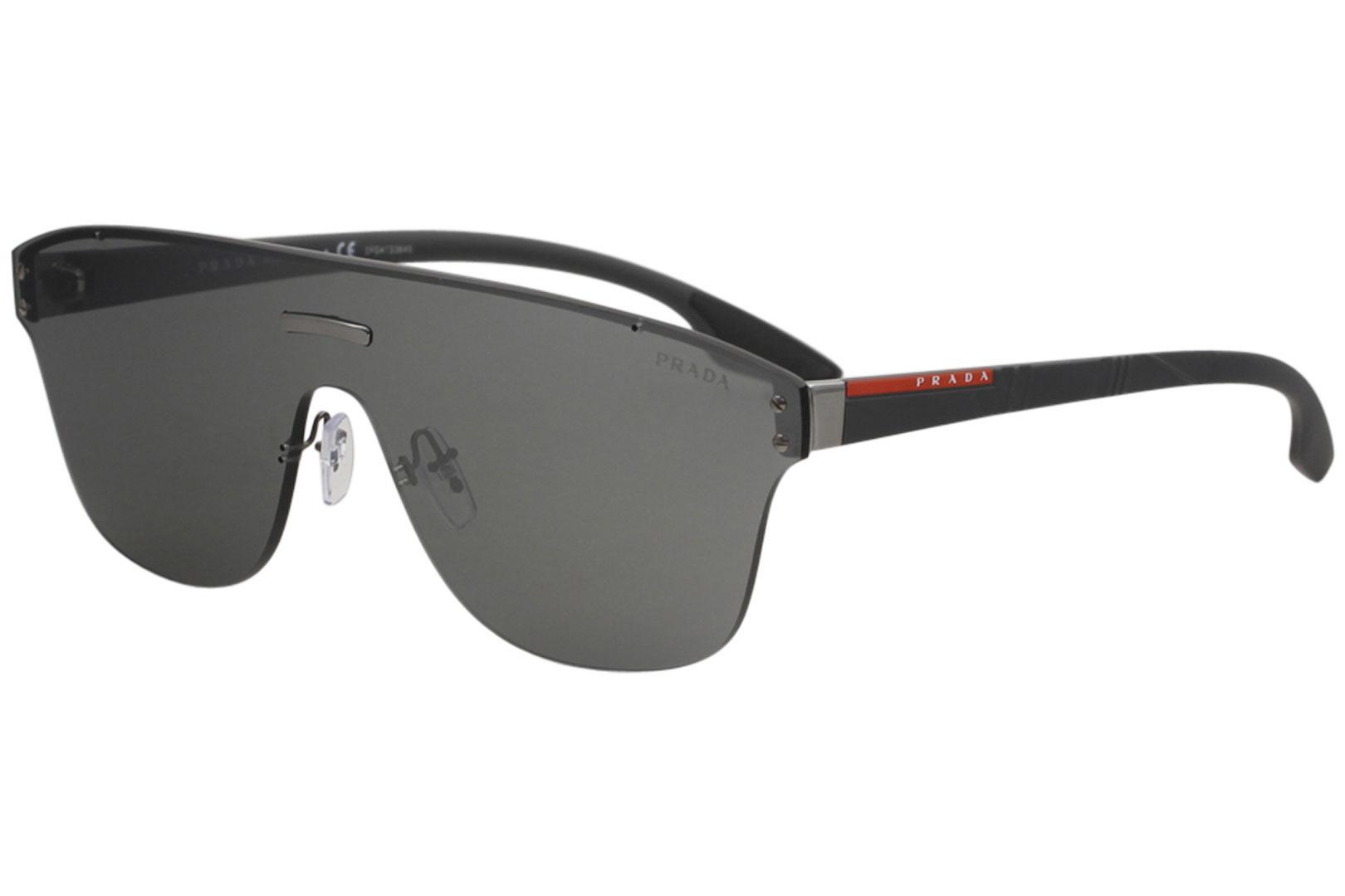 1811910a8a47 Prada Linea Rossa Men s SPS57T SPS 57T Fashion Shield Sunglasses by Prada  Linea Rossa