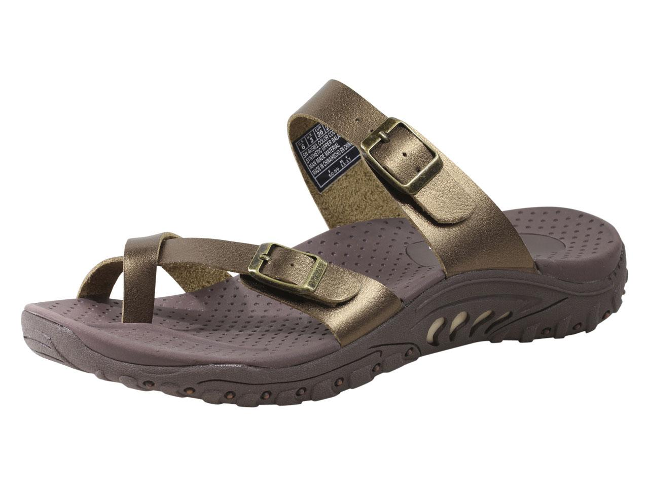 Skechers Women S Reggae Wishlist Strappy Flip Flops