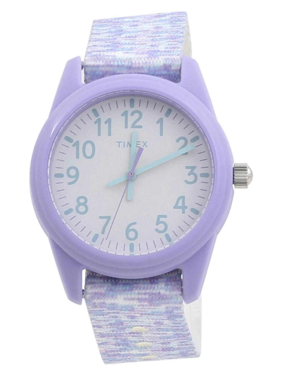 Timex Girl s TW7C12200 Time Machines Purple White Analog Watch