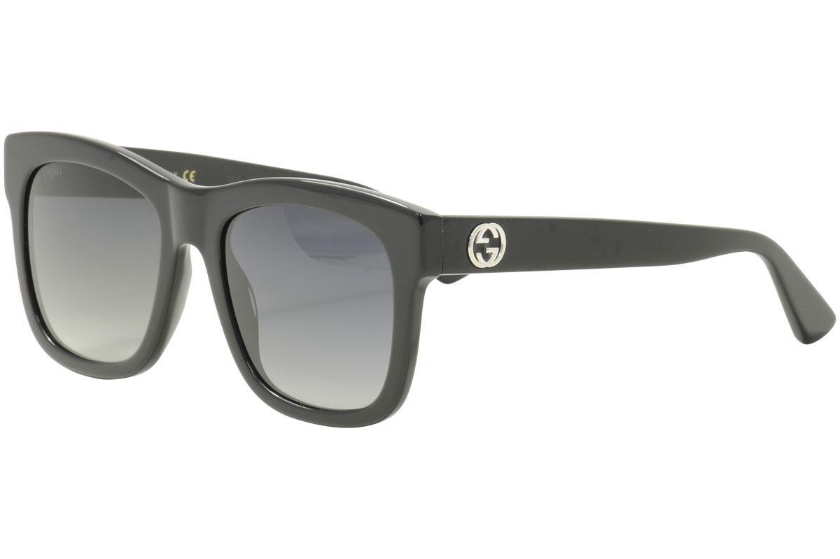 70e68f53158 Gucci Women s GG0032S GG 0032 S 001 Black Square Sunglasses 54mm by Gucci