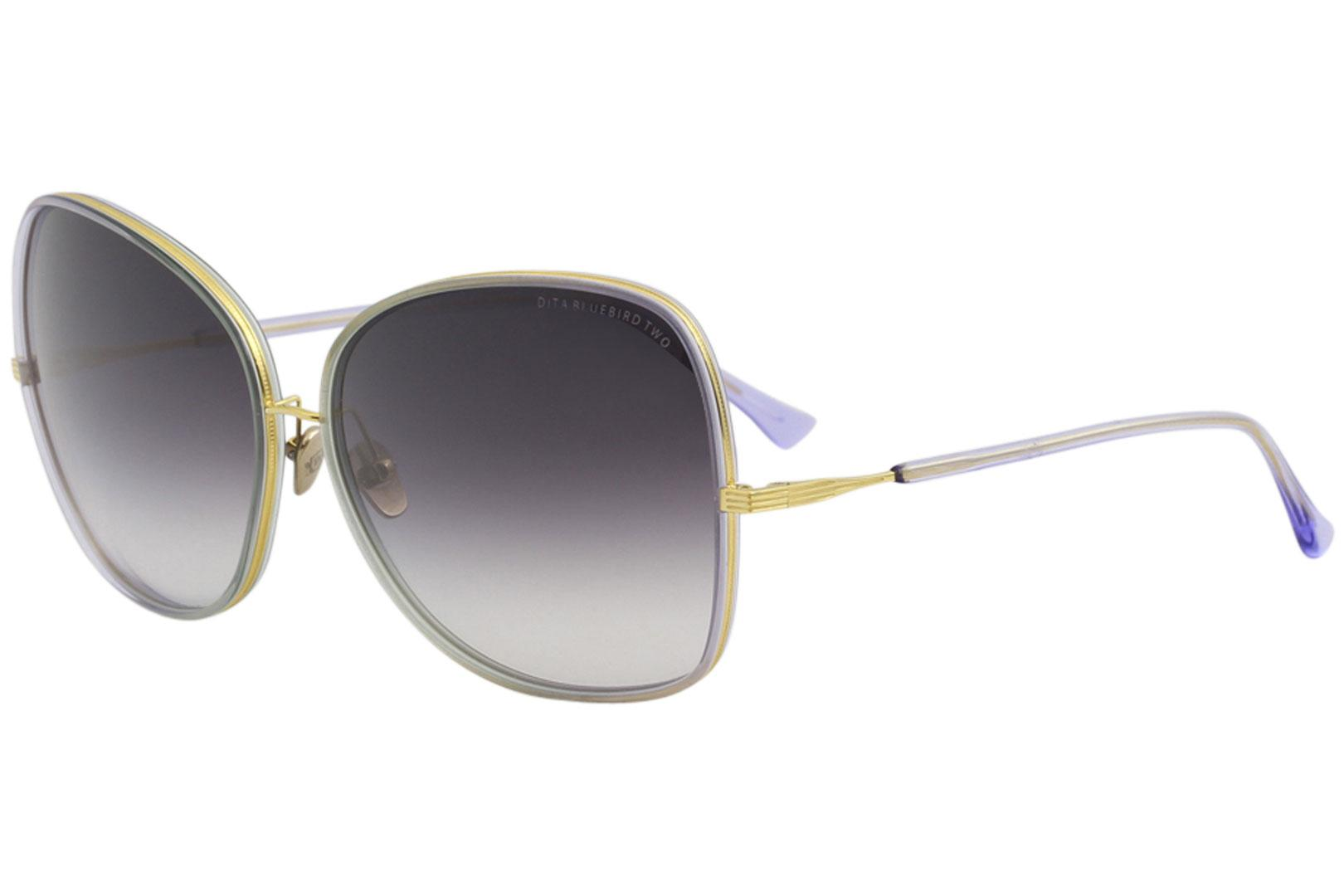 98f75a72c97 Dita Women s Bluebird-Two 21011 12-18K Gold Fashion Square Sunglasses