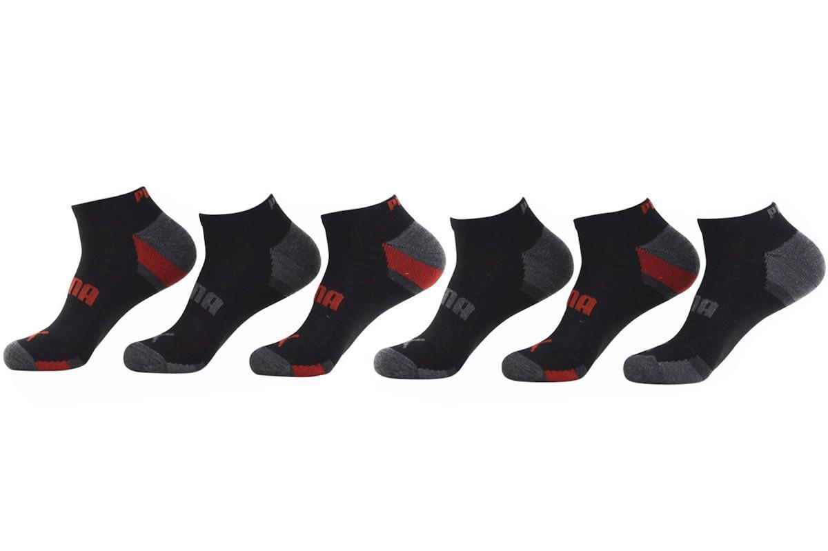 Puma Men s 6 Pack Low Cut Athletic Socks Sz 10 13 Fits 6 12