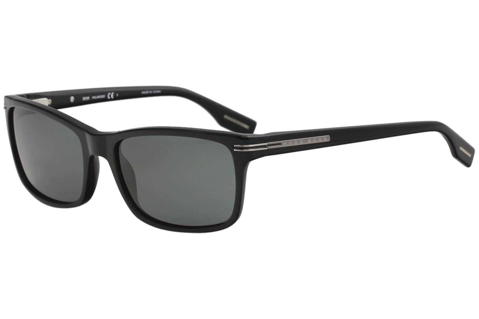 b28970e5d Hugo Boss Men s 0319 S 0319S 807 RA Black Polarized Sunglasses 56mm by Hugo  Boss