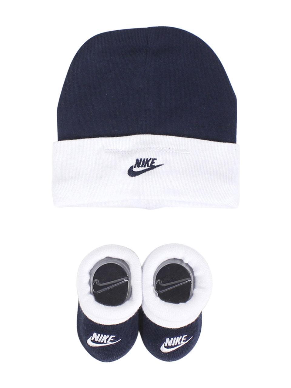 Nike Infant Boy s Swoosh Logo 2-Piece Hat   Booties Set a3b0363ef11