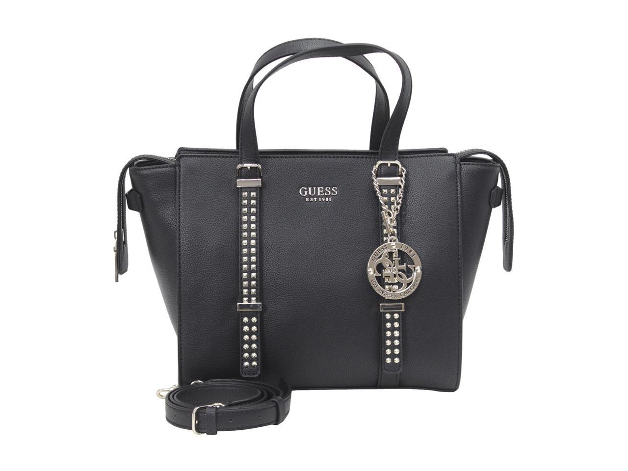 Details about Guess Women's Eileen Studded Satchel Handbag