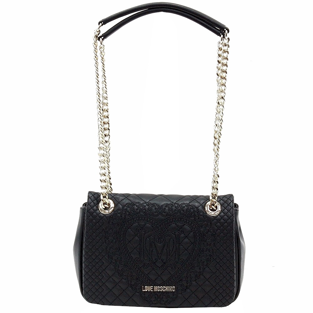 Love Moschino Women S Quilted Amp Embroidered Flap Over