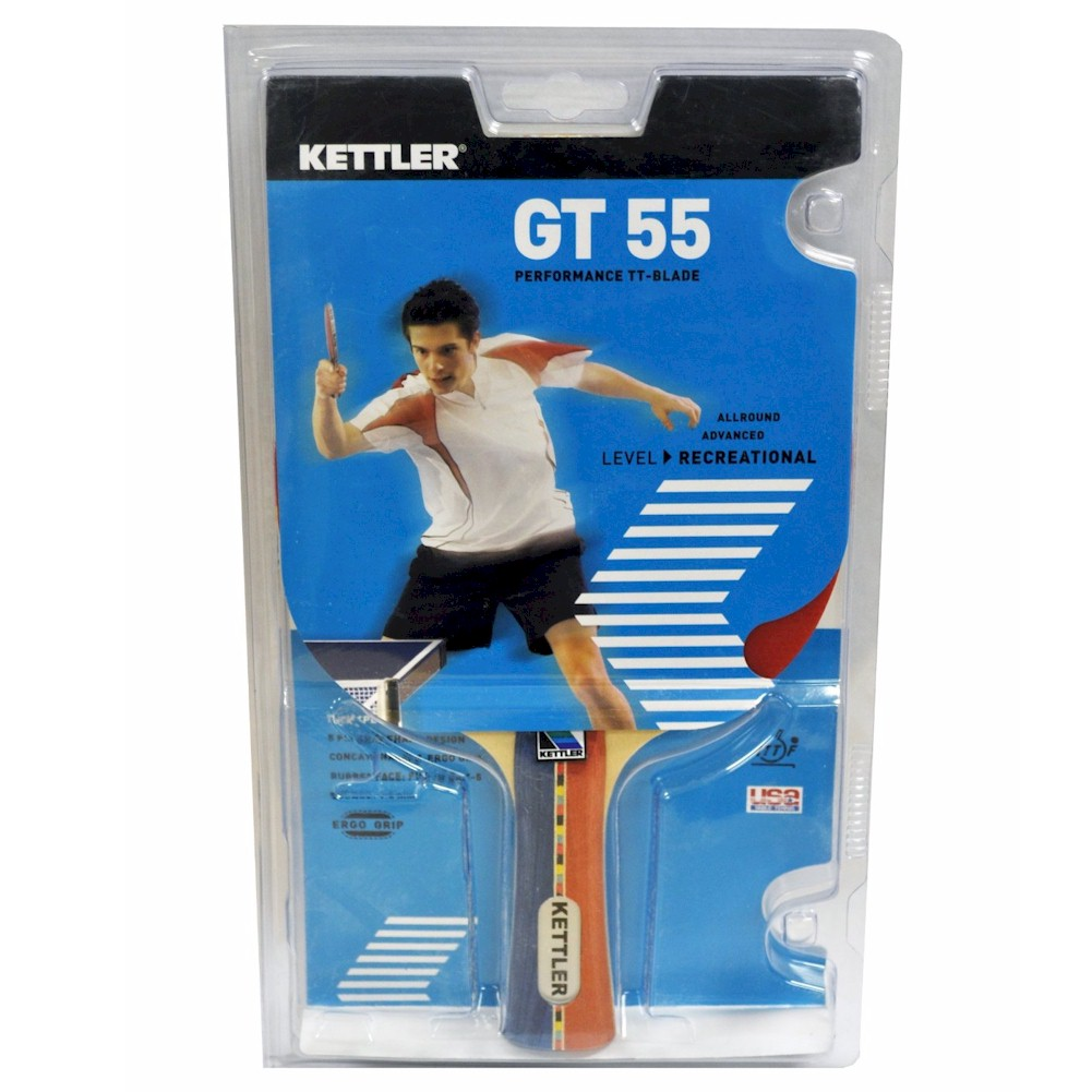 Image of Kettler GT 55 Performance TT Blade 7206 100 Red Black Table Tennis Racquet