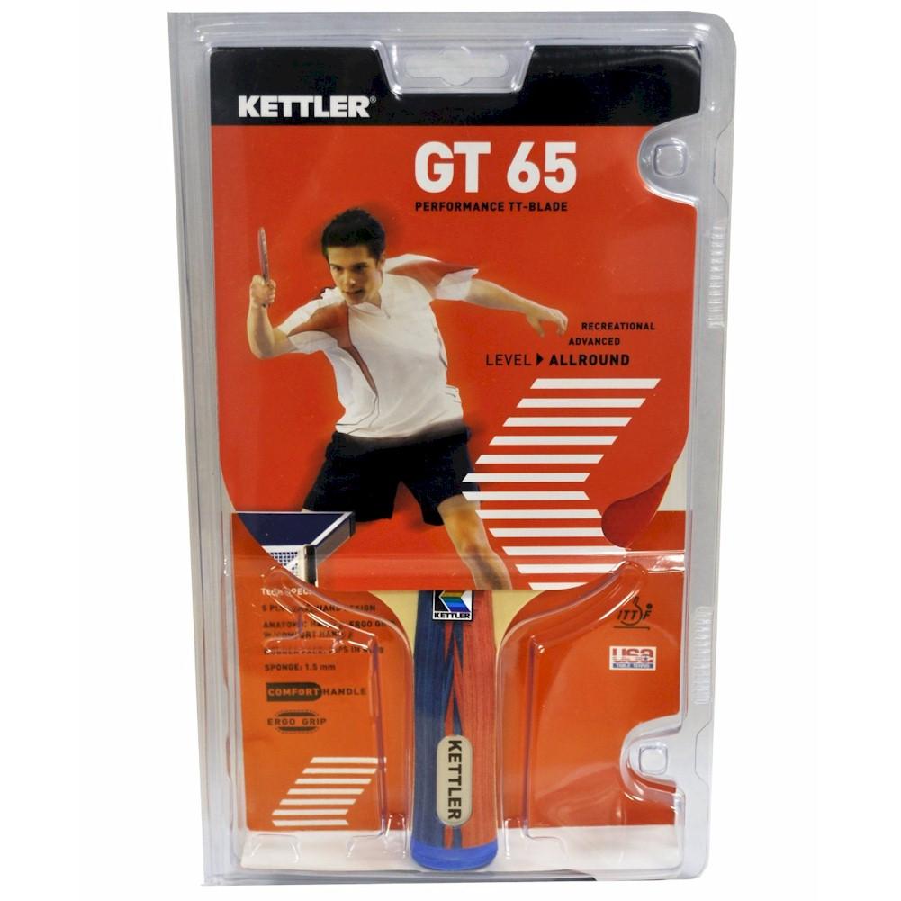 Image of Kettler GT 65 Performance TT Blade 7207 100 Red Black Table Tennis Racquet