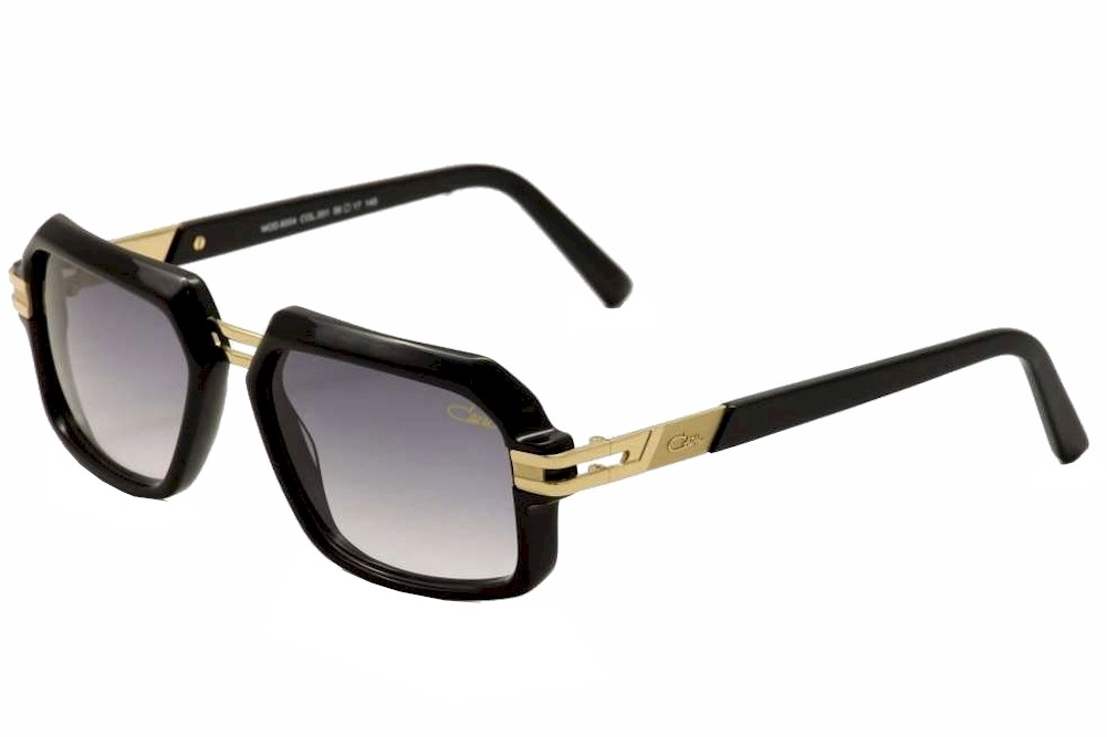 c04ff5f08e Cazal Vintage 6004 3 001 Black Gold Fashion Sunglasses 56mm by Cazal