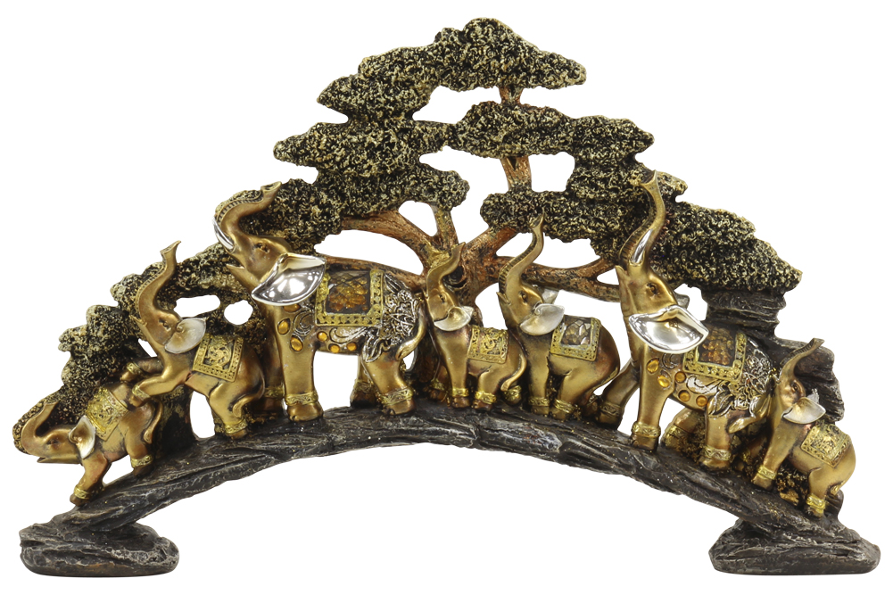 Mirtex Trading Corp The Mirella Collection 17.5 Inch Elephant Birdge