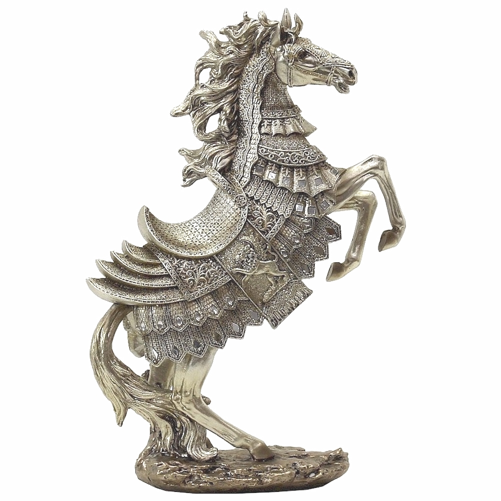 The Mirella Collection 18 Inch Polyresin Bronze Horse Figur