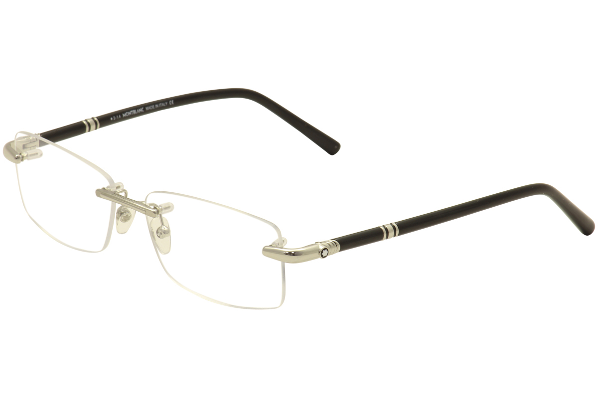 bbf38c8ef58 Mont Blanc Men s Eyeglasses MB0476 MB 0476 Rimless Optical Frame by Mont  Blanc