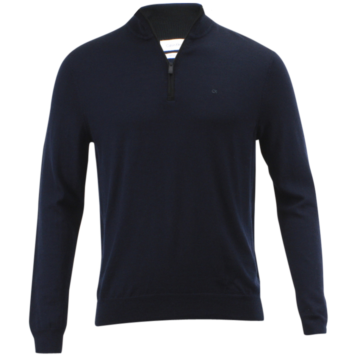 Calvin Klein Men s Merino End On End Long Sleeve 3 4 Zip Sweater Merino End On End; 401S304