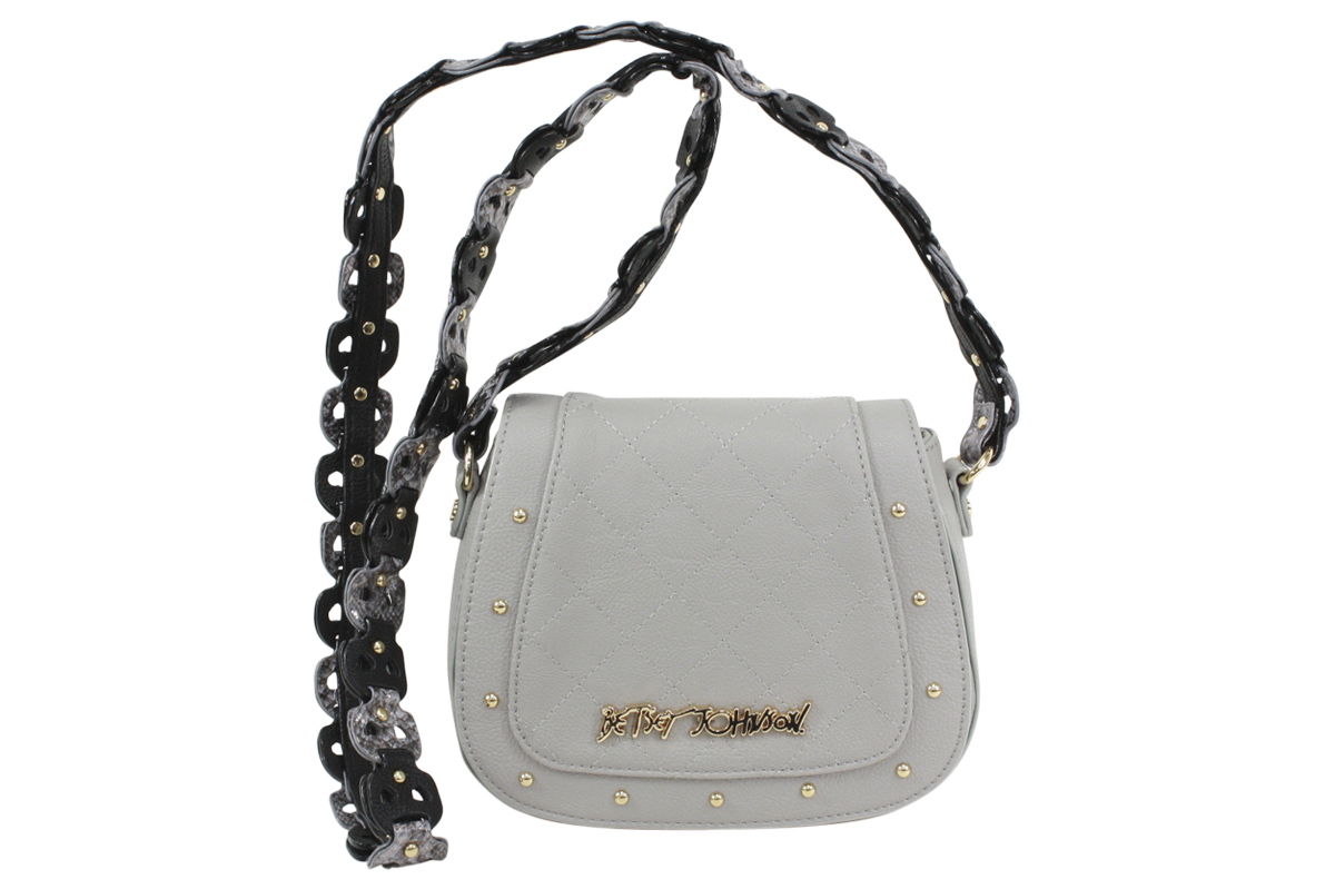 Betsey Johnson Women S Woven Strap Mini Saddle Flap Over Crossbody Handbag