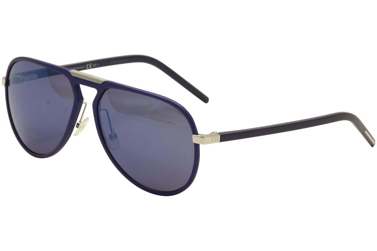 a5f08c4614c Christian Dior Homme Men s AL 132 S Blue Aviator Sunglasses by Christian  Dior Homme