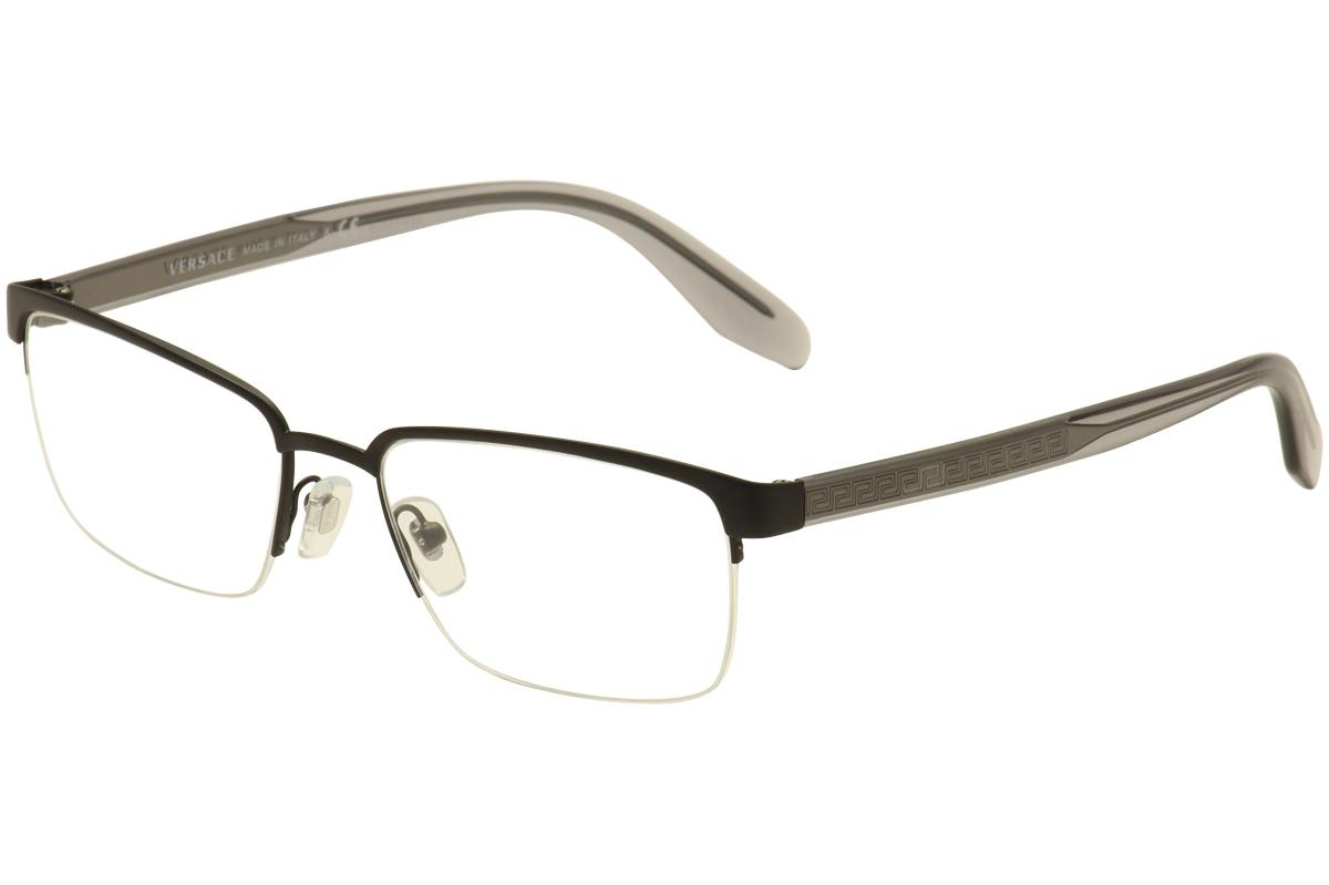 010ef36520d7c Versace Men s Eyeglasses VE1241 VE 1241 Half Rim Optical Frame by Versace