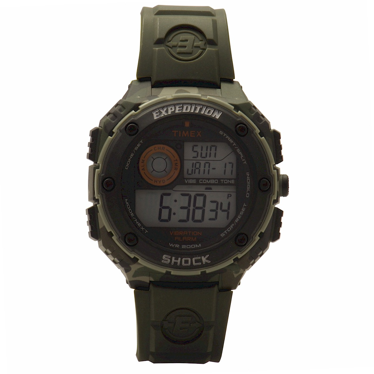 512f487e18b1 Timex Men s Expedition T49981DH Green Camo Black Digital Sport Watch by  Timex
