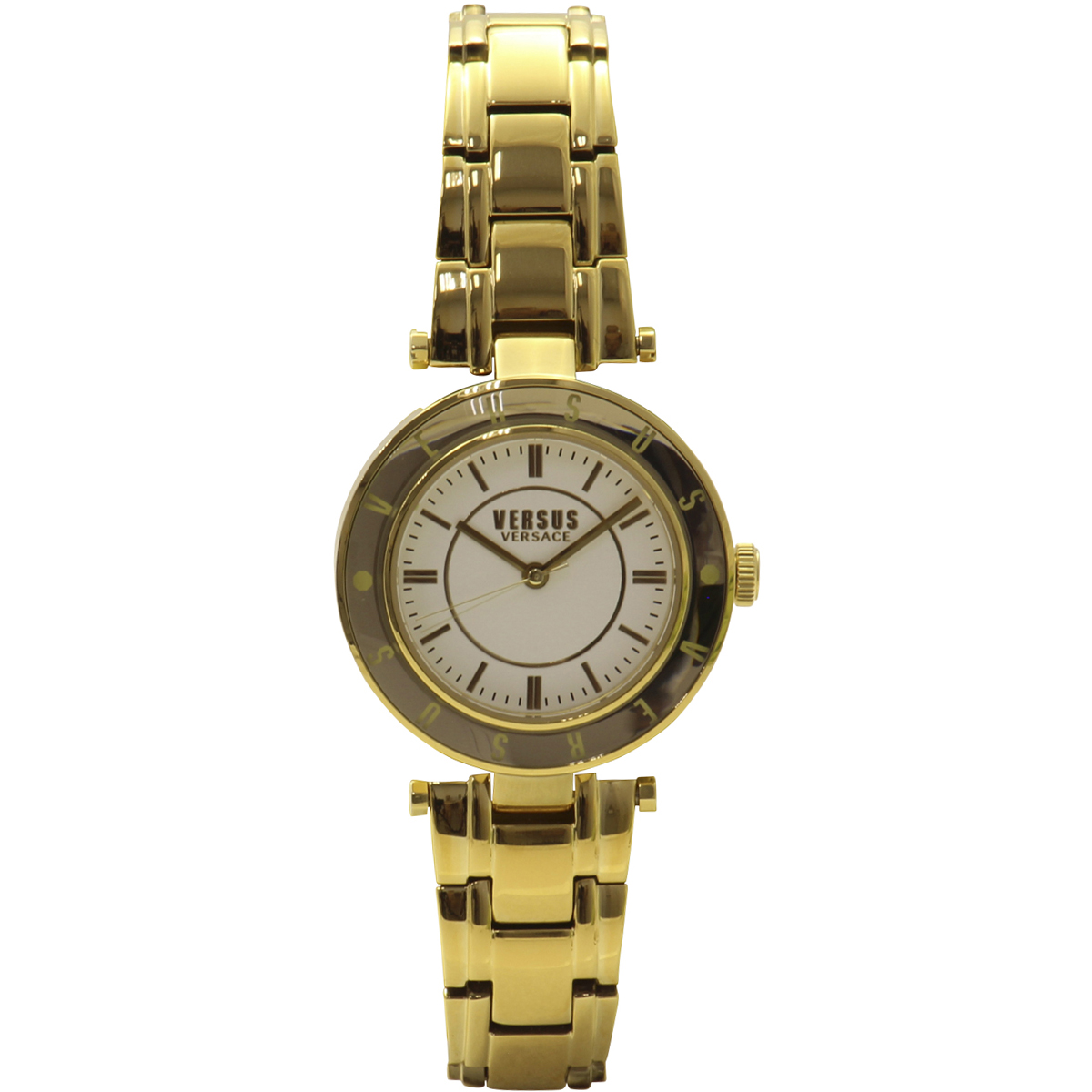 Versus By Versace Women's SP8200015 Yellow Gold/White Analog Watch