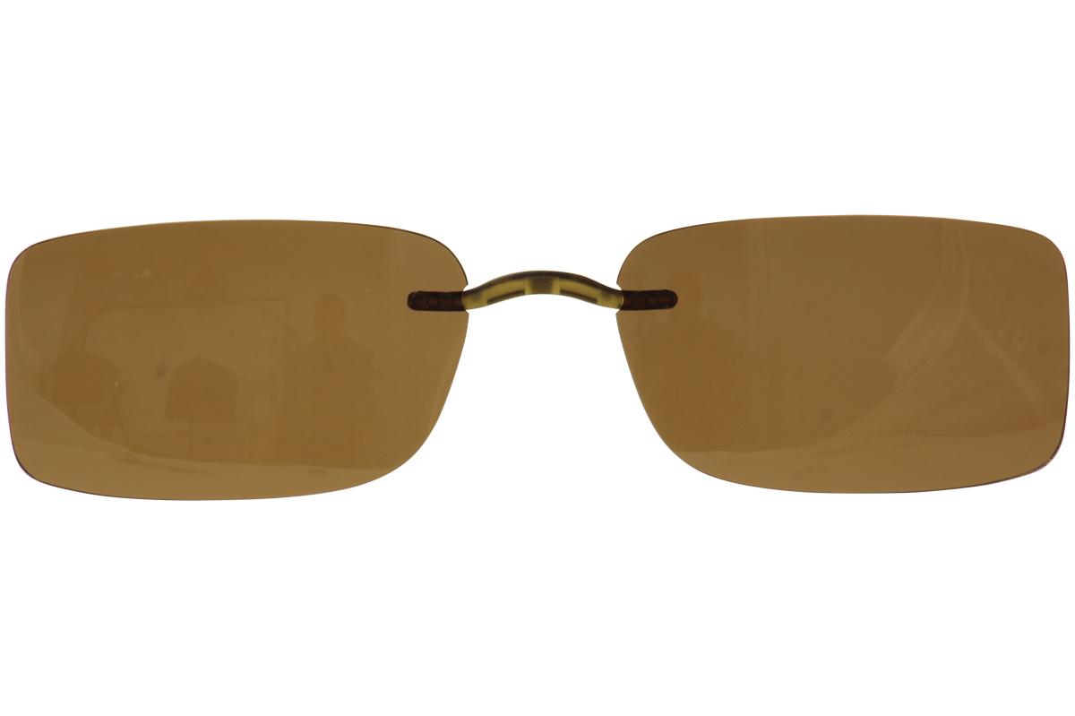 Silhouette Zenlight 5065 Brown Polarized Clip On Sunglasses