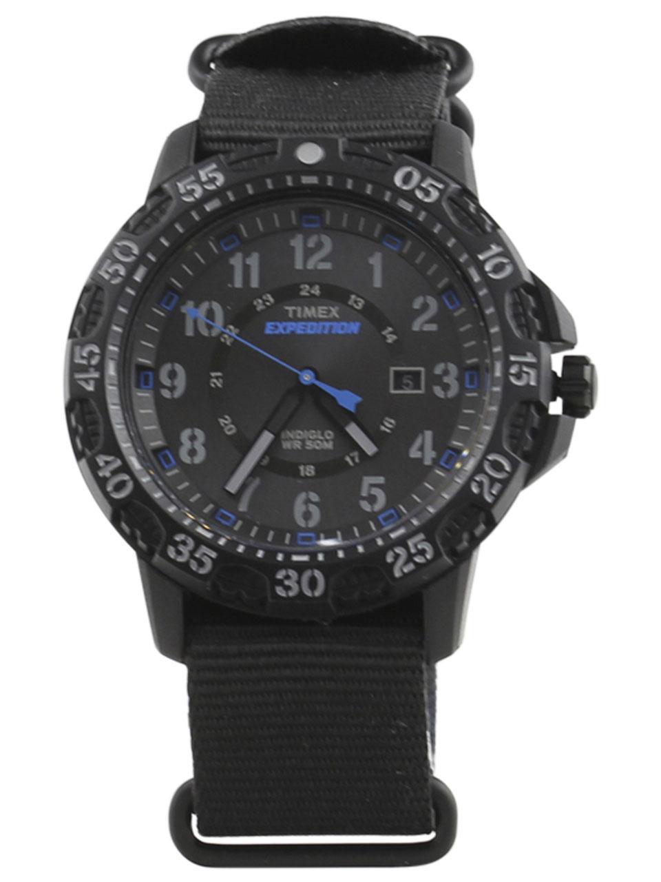 Timex Men s TW4B03500 Expedition Gallatin Black Blue Analog Watch