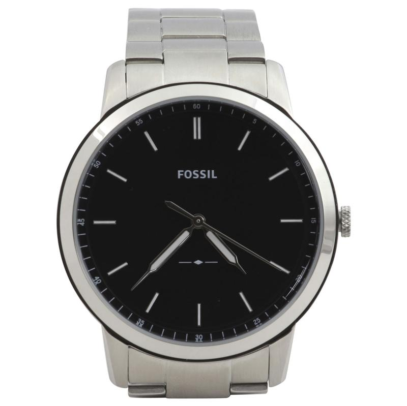 Image of Fossil Men s FS5307 Silver Stainless Steel Analog Watch