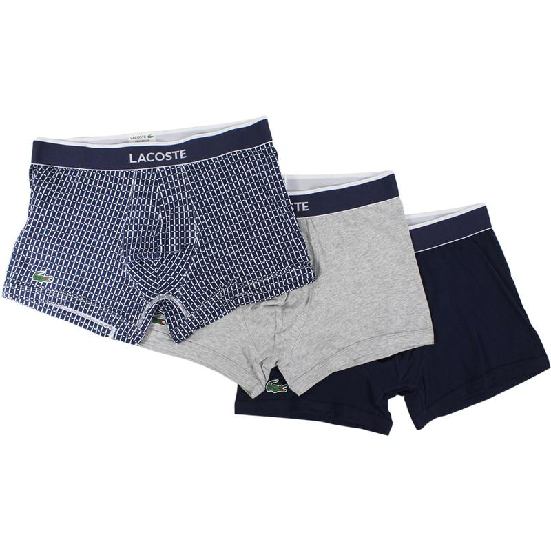 378d323b5 Lacoste Men s 3-Pc Colours Link Print Stretch Boxers Underwear by Lacoste
