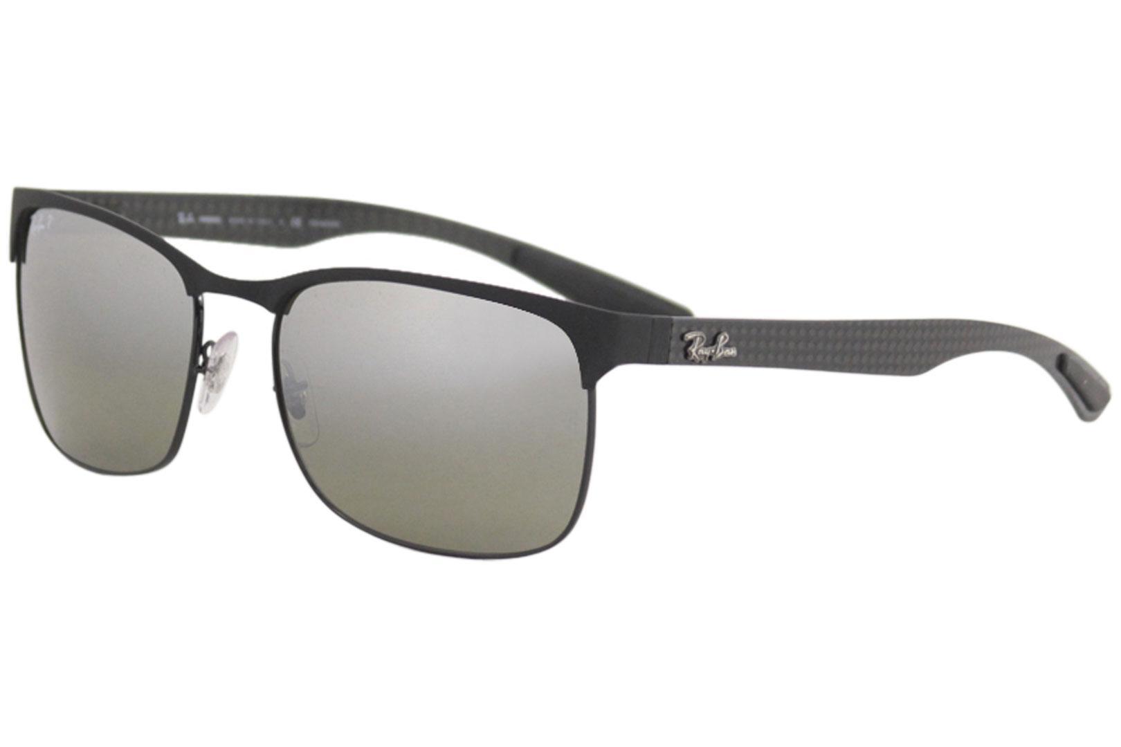 004315d4bd Ray Ban Men s Chromance RB8319CH 8319 Rectangle RayBan Polarized Sunglasses  by Ray Ban