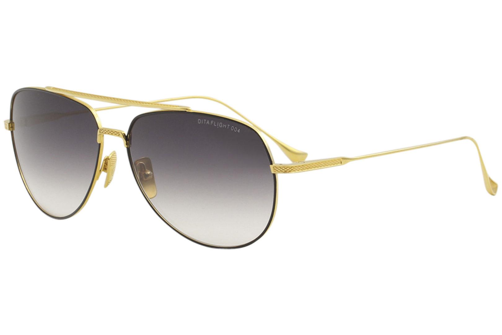 6856428ac44e Dita Men s Flight-004 7804 18K Gold Fashion Pilot Titanium Sunglasses
