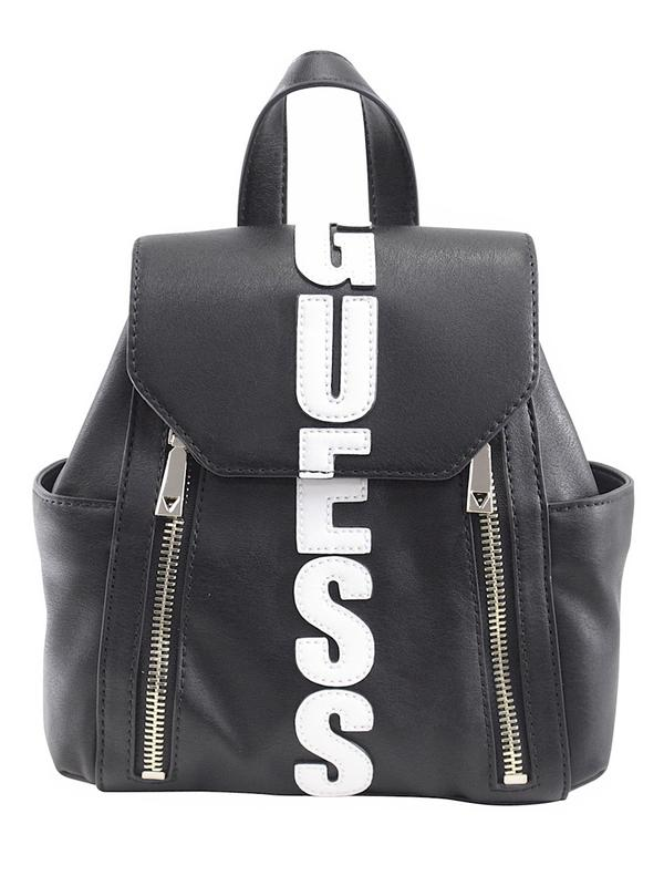 06c07daaef Details about Guess Women s Urban Sport Small Black Logo Backpack Bag