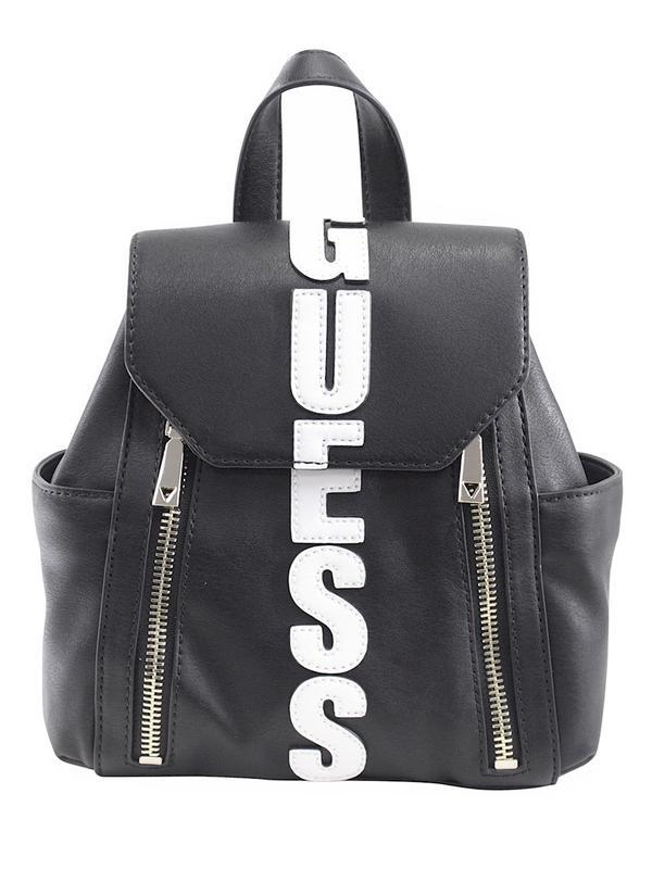 199dba6623 Guess Women s Urban Sport Small Black Logo Backpack Bag 190231181934 ...