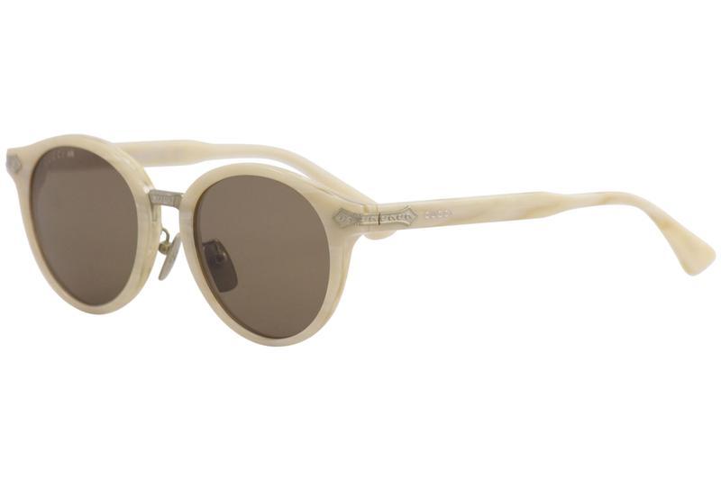 16f9cf9b39c Gucci Men s GG0066S GG 0066 S 002 White Fashion Round Sunglasses ...