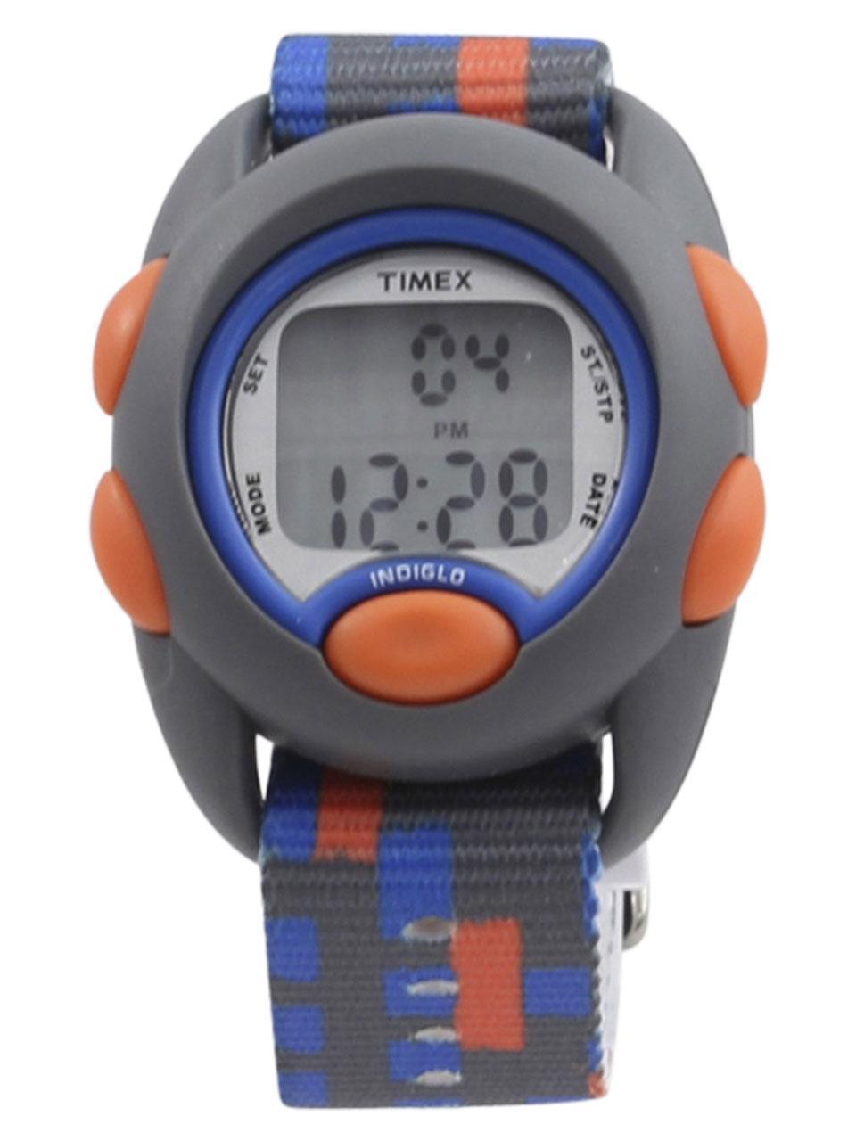 Image of Timex Boy s TW7C12900 Time Machines Grey Orange Digital Watch
