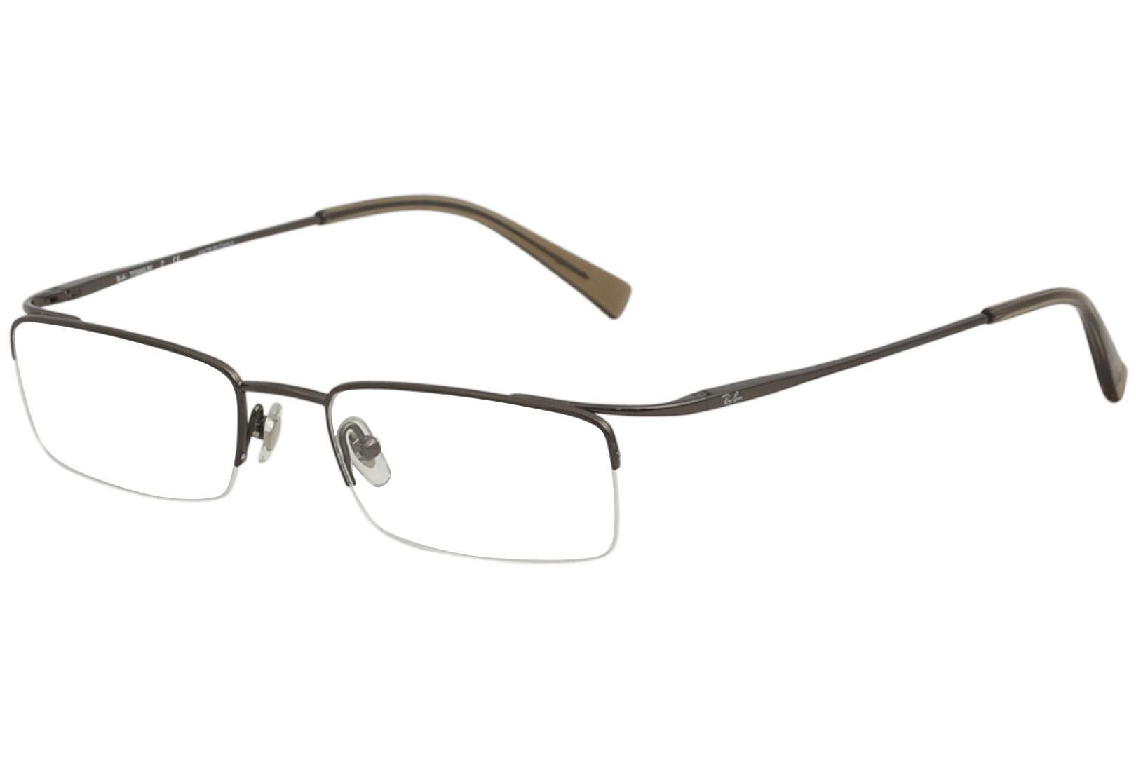 Ray Ban Men\'s Eyeglasses RX8582 RX/8582 RayBan Half Rim Titanium ...
