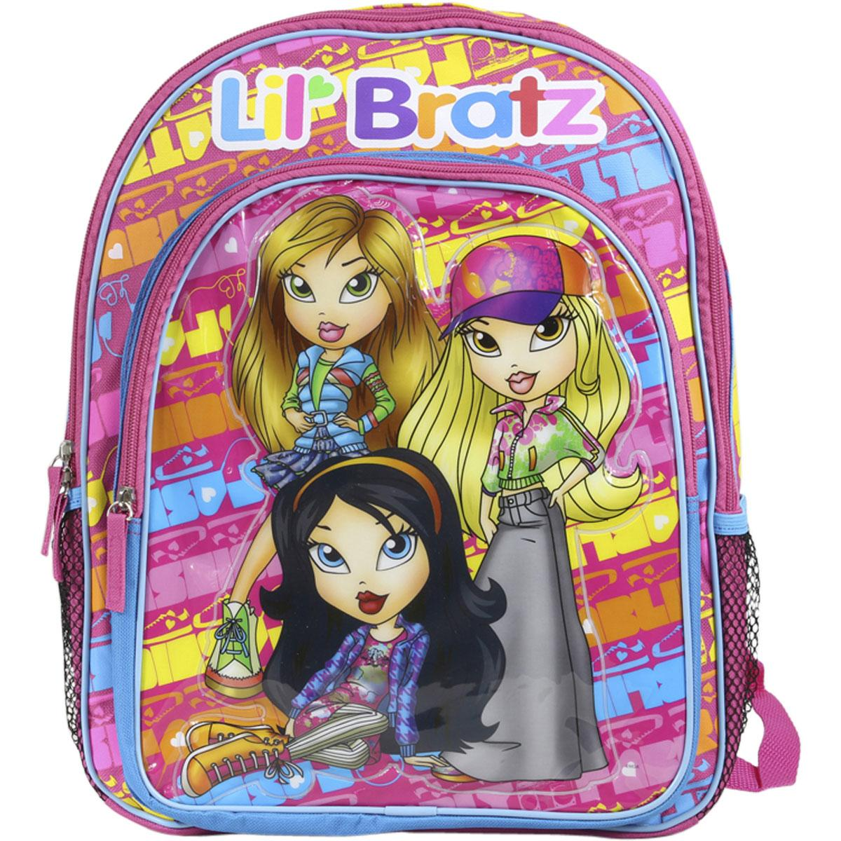 Lil Bratz Kids Pink And Blue Backpack School Bag Bookbag