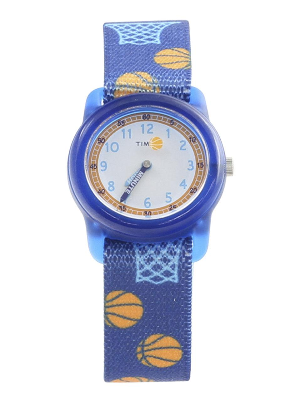 Image of Timex Boys s TW7C16800 Time Machines Blue Basketball Analog Watch