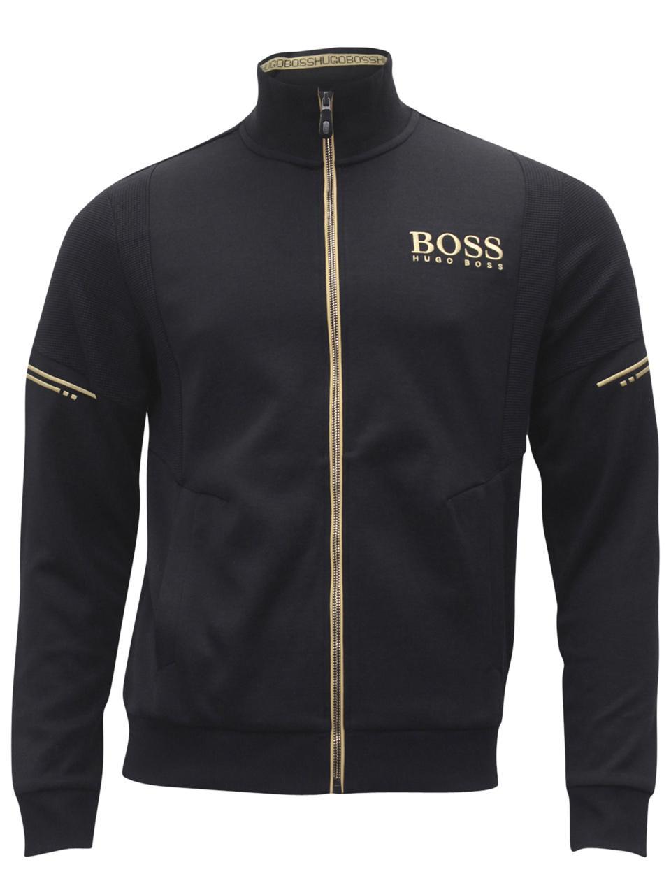bb9339e53 Hugo Boss Men s Skaz Long Sleeve Zip Front Sweatshirt Jacket by Hugo Boss