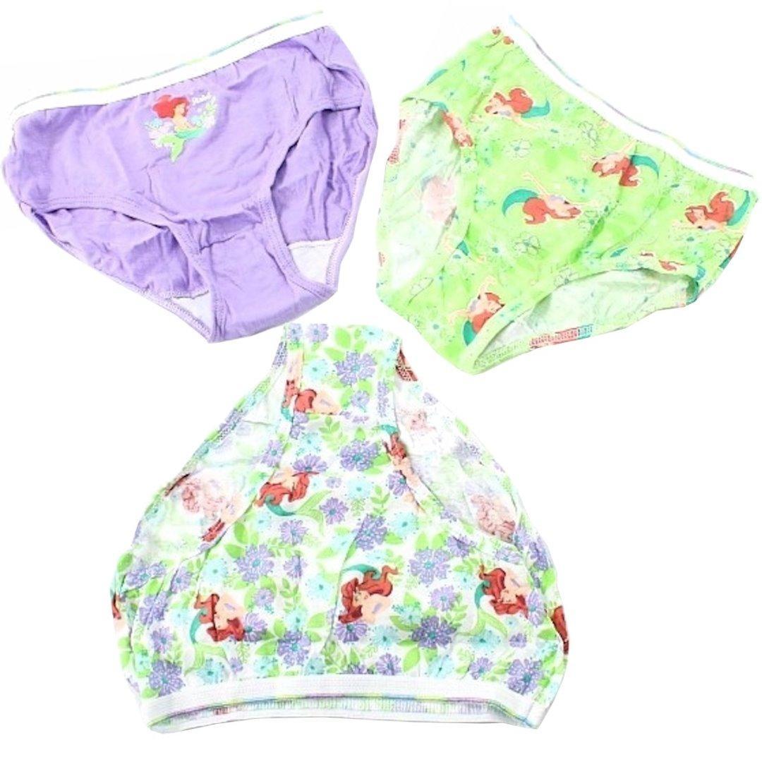 ba19fbcb52c7 Disney Little Mermaid Briefs 3 Pack Girls Panties Cotton Underwear Sz8 by  Disney Little Mermaid