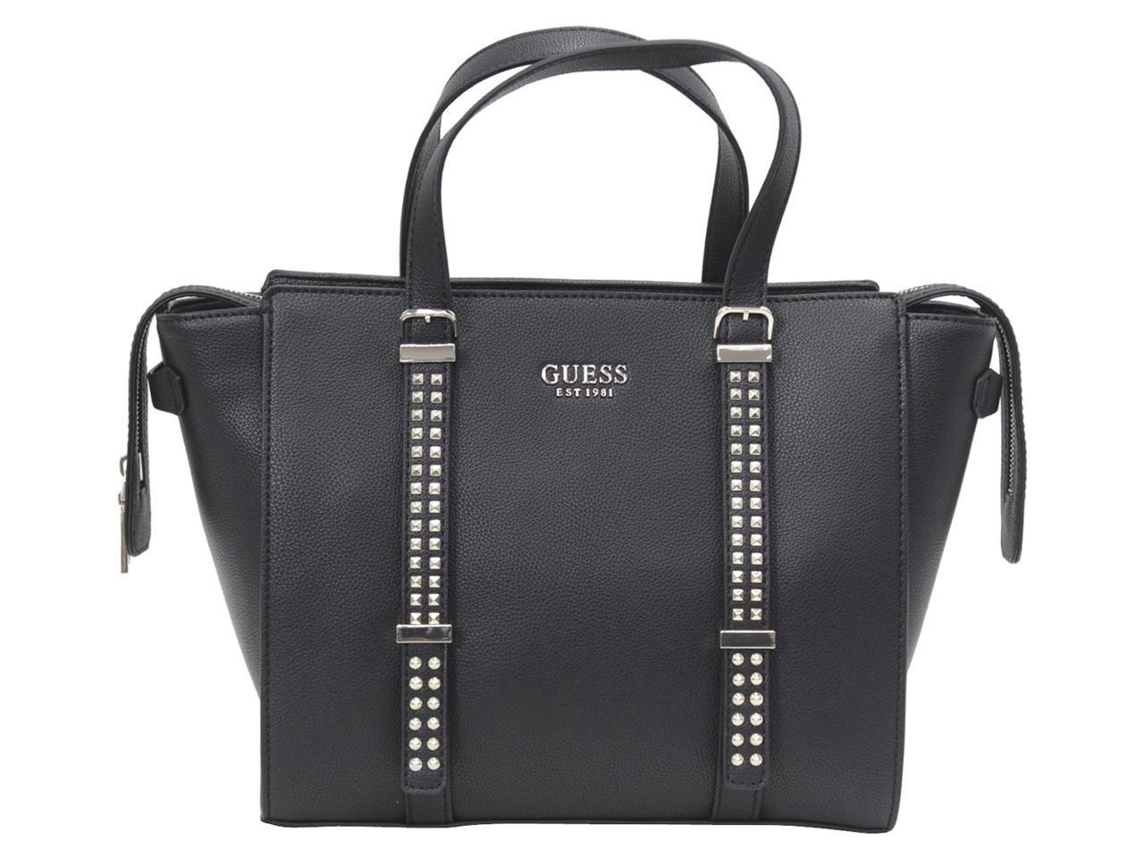 Guess-Women-039-s-Eileen-Studded-Satchel-Handbag 35b4bf12210ab