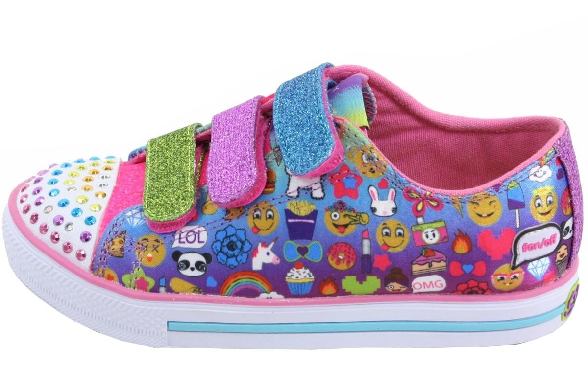 Skechers Twinkle Toes Chit Chat Simply Silly Light Up