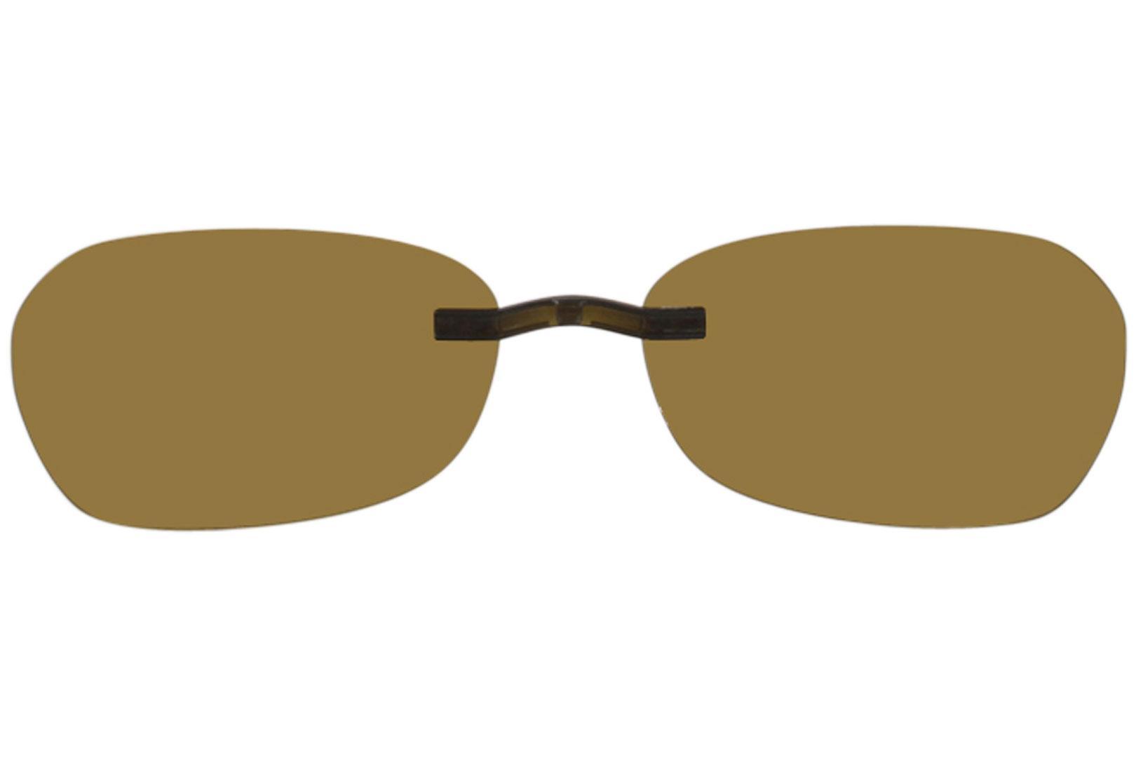 Silhouette Titan Edge 5076 Brown Polarized Clip On Sunglasses