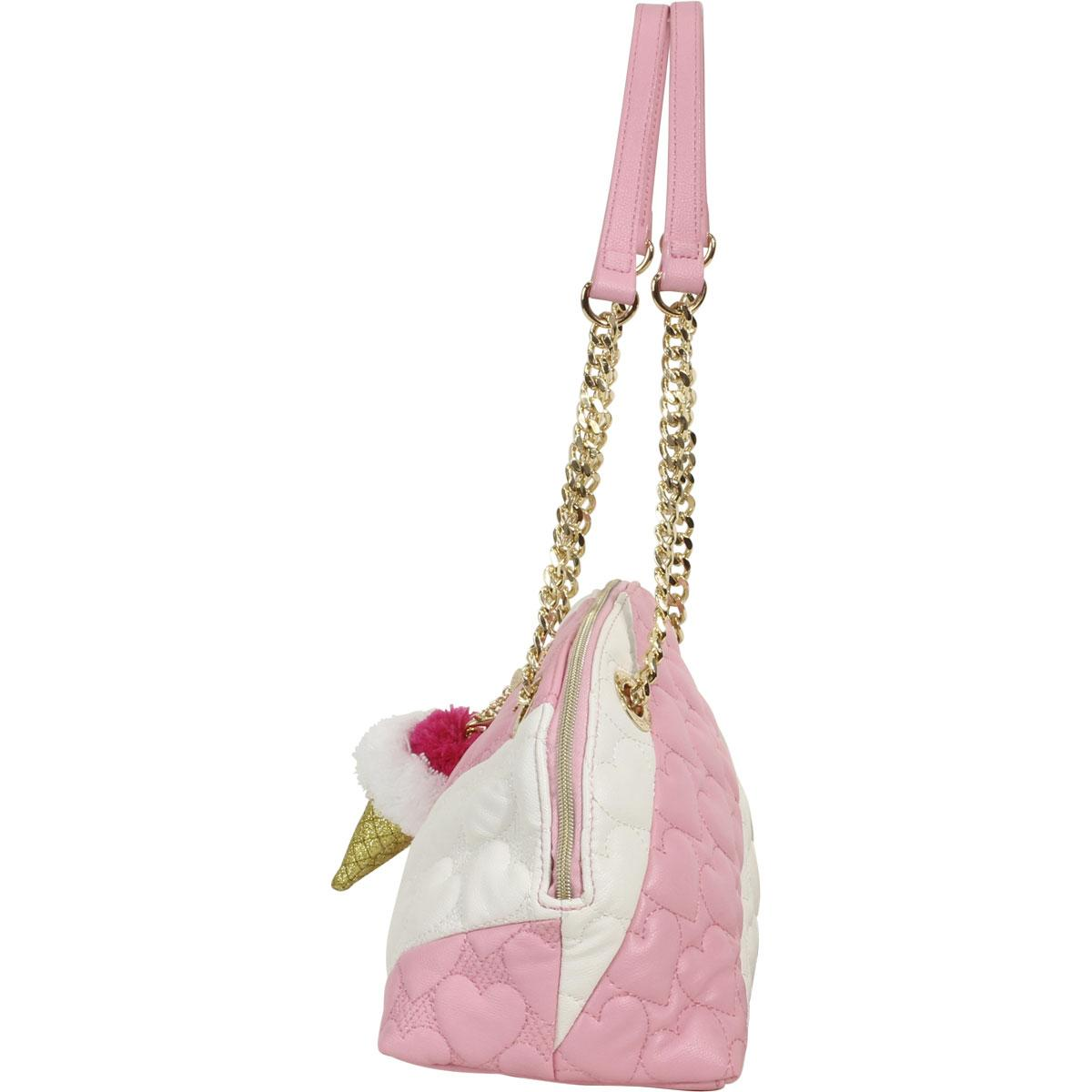 dc729a88b9 Betsey Johnson Women s Split Decision Quilted Heart Dome Satchel Handbag by Betsey  Johnson