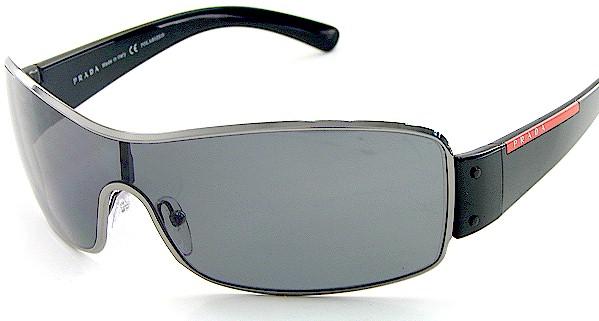 683a2355793 Prada SPS 52E SPS52E 5AV-5Z1 Polarized Black Sunglasses by PRADA