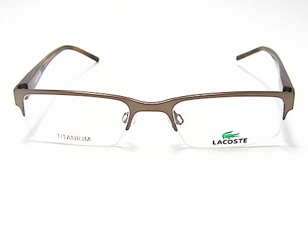 lacoste eyeglasses la12001 br brown optical frame 51x19 by lacoste