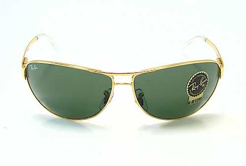 d5e4c5624c RAY-BAN RAYBAN RB 3342 Warrior Gold 001 Sunglasses by Ray Ban