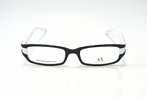 Glasses Frame Black And White : ARMANI EXCHANGE AX 211 Black White 0JBA Optical Eyeglasses ...