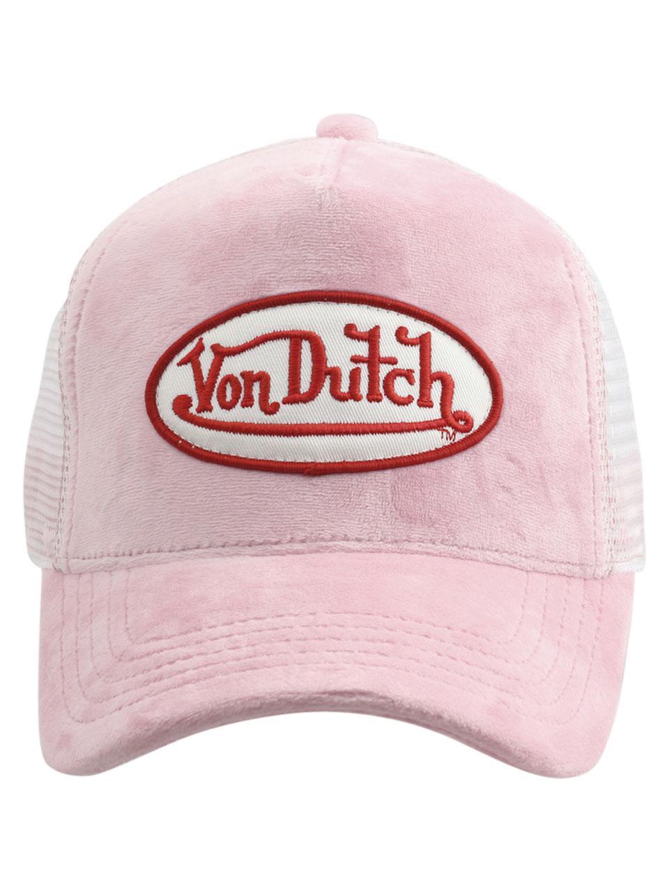 953a697a28b Von Dutch Women s Velvet Front Snapback Trucker Cap Hat by Von Dutch