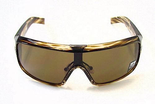 cb419975f3c2f SPY OPTIC Haymaker Sunglasses HMTG01 Brown Stripe Shades by Spy Optic