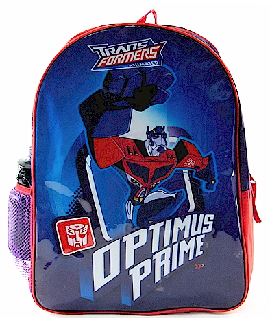 transformers optimus prime backpack red and blue school bag write a ...