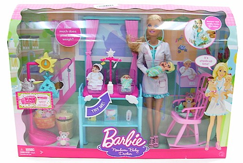 Barbie I Can Be Newborn Baby Doctor Play Set By Mattel