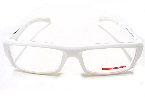 prada vps 05a eyeglasses vps05a white 4ao 1o1 optical frames by prada